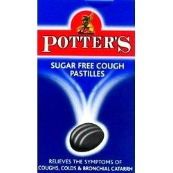 POTTERS COUGH PASTILLES SUGAR FREE 45G