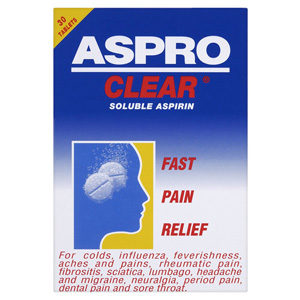 ASPRO CLEAR SOLUBLE TABLETS 30'S
