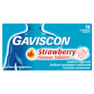 GAVISCON 250MG TABS 32'S STRAWBERRY
