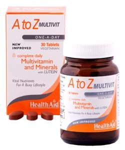 HEALTH AID A TO Z MULTIVITAMIN+MINERALS TABLETS 30'S