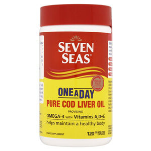SEVEN SEAS COD LIVER OIL CAPSULES ONE A DAY 120'S
