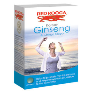 RED KOOGA KOREAN GINSENG & GINKO BILOBA TABLETS 32'S