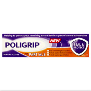 Poligrip for Partials Seal & Protect Denture Fixative 40g